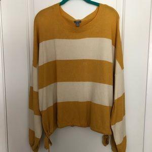 Aerie Balloon Sleeve Striped Sweater